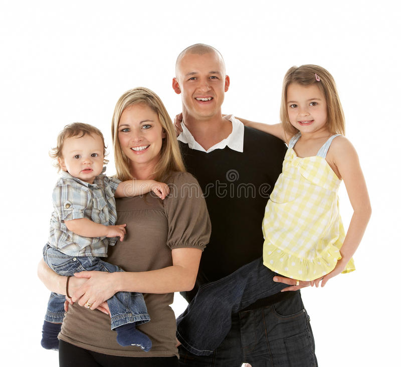 Studio Shot Of Family Group In Studio Stock Photos