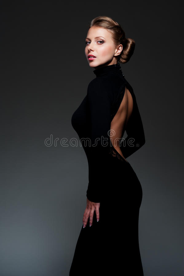 Studio shot of glamor woman
