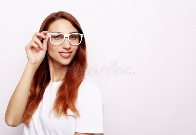Studio shot of good looking female stock photography