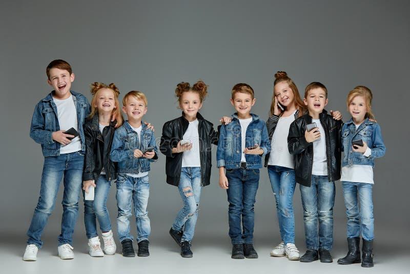 Group of Children Studio Concept stock photography