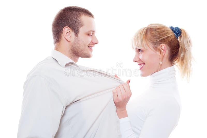 Studio shot of lovers