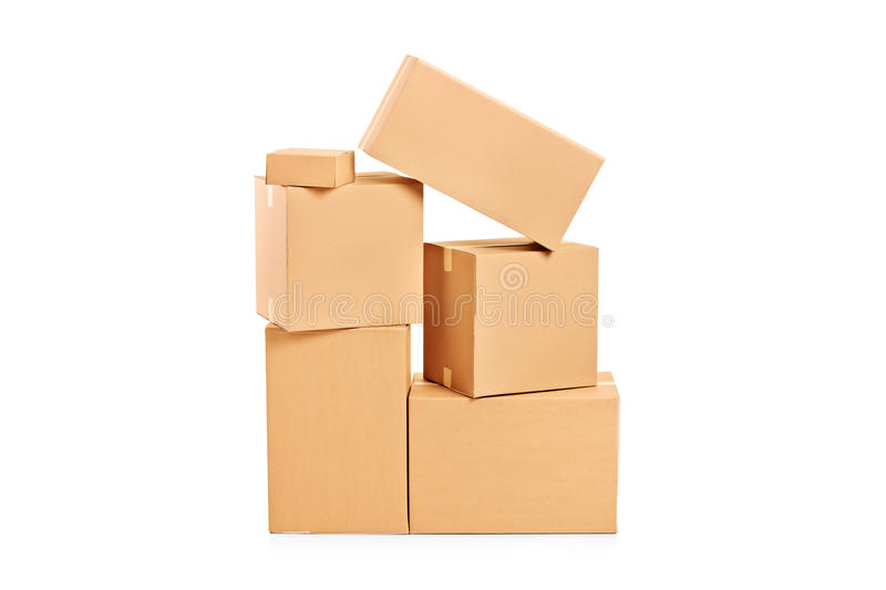 Download A Studio Shot Of Many Paper Boxes Stock Photo - Image of merchandise, post: 25214856