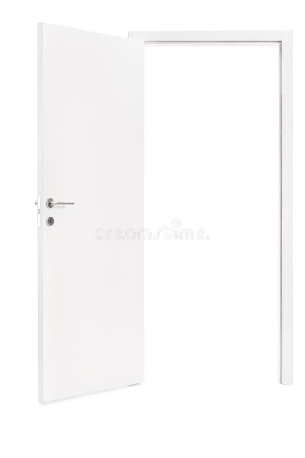 Free Studio Shot Of An Opened Modern White Door Stock Photo - 49295430