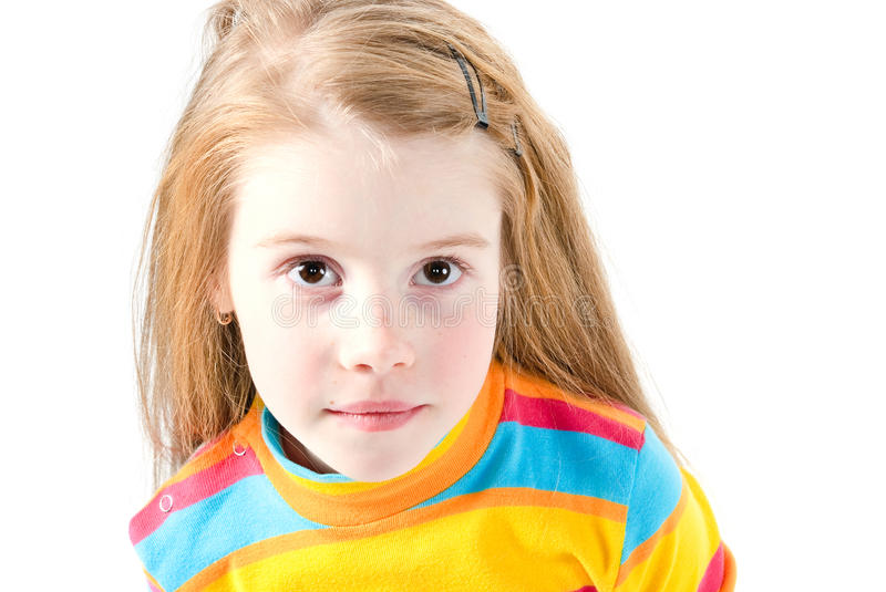 Download Studio Shot Of Pretty Little Girl Stock Image - Image: 18368369