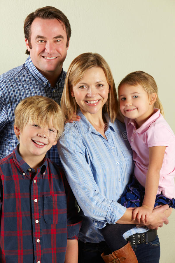 Download Studio Shot Of Relaxed Family Stock Image - Image: 23959873