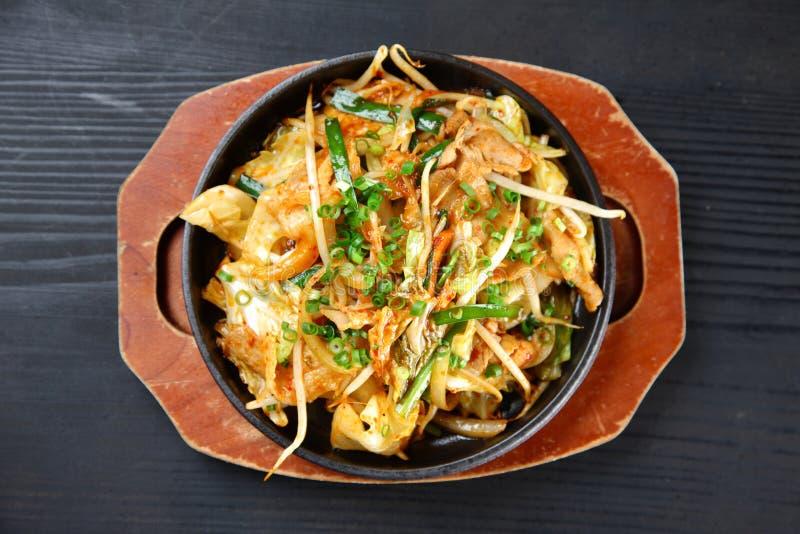 Pork and Kimchi Stir-fry royalty free stock photo