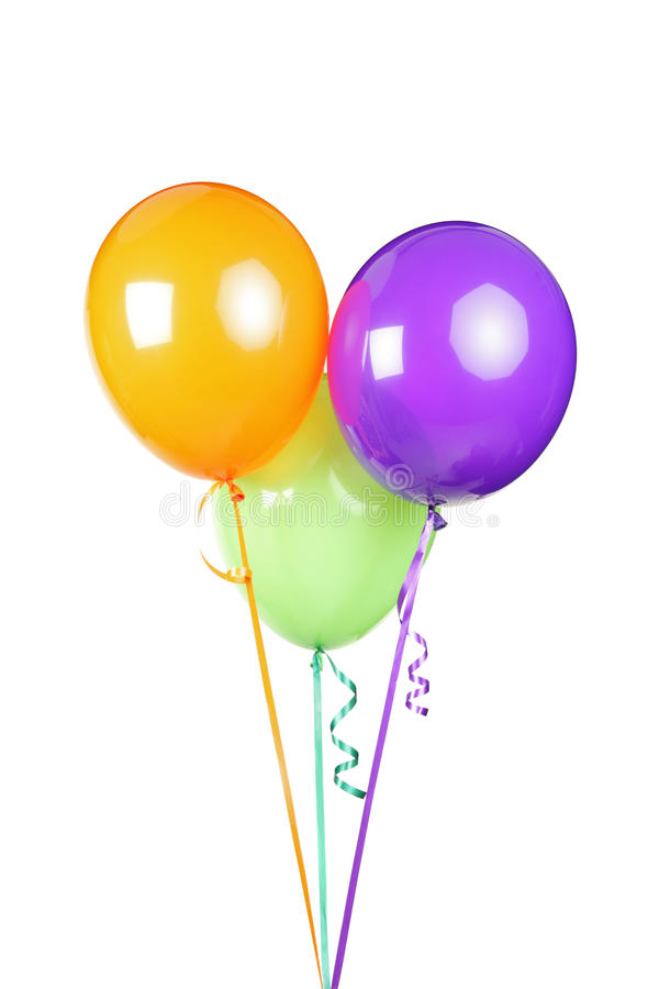 Download Studio Shot Of Three Balloons Stock Image - Image of blue, romance: 20729405
