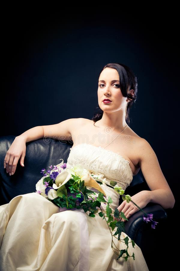 Beautiful Bride`s Portrait royalty free stock image