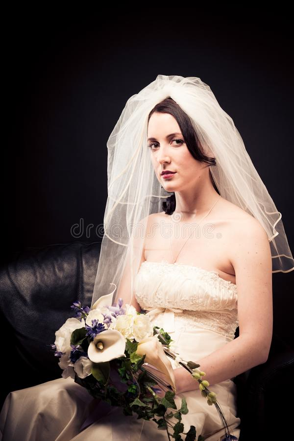 Beautiful Bride`s Portrait stock photography