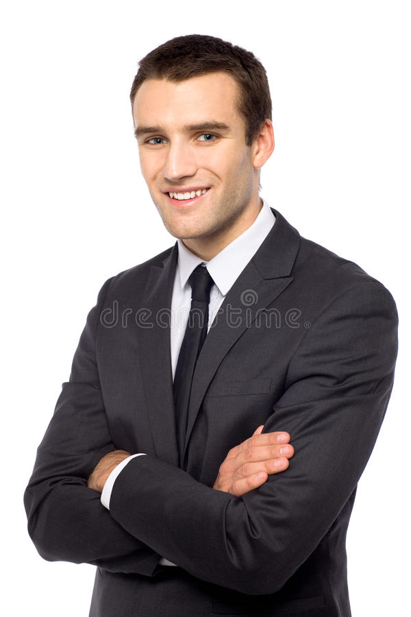 Studio shot of young businessman royalty free stock photo