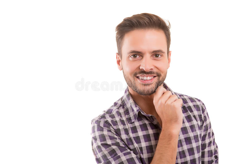 Studio shot of a young man stock photography