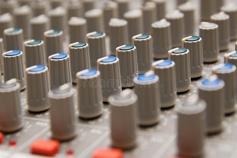 Download Studio sound mixer details stock illustration. Illustration of knobs - 26030168