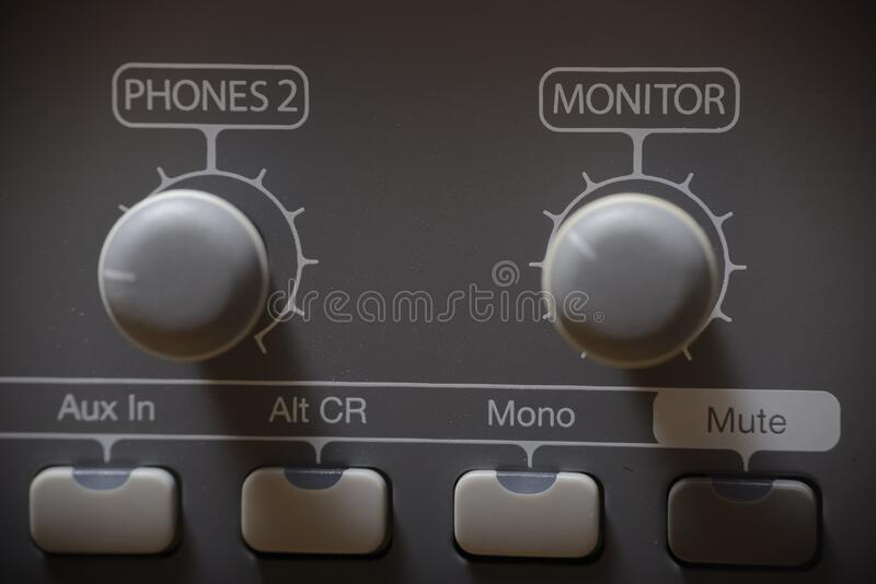 Studio sound processor with with compressors, preamplifiers and audio interfaces royalty free stock photography