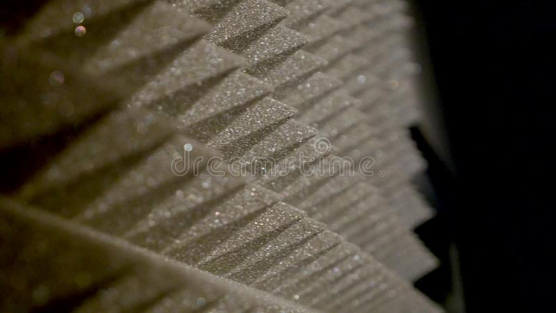 Studio sound proofing on wall in the sound studio royalty free stock photography
