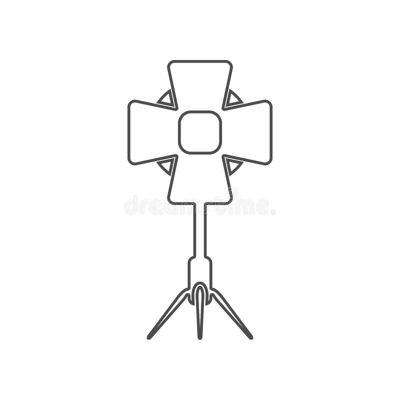 studio spotlight icon. Set of cinema  element icons. Premium quality graphic design. Signs and symbols collection icon for stock illustration