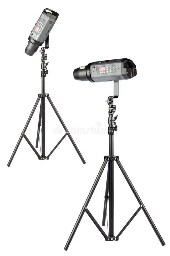 Download Studio strobe stock image. Image of equipment, black, halogen - 8255149