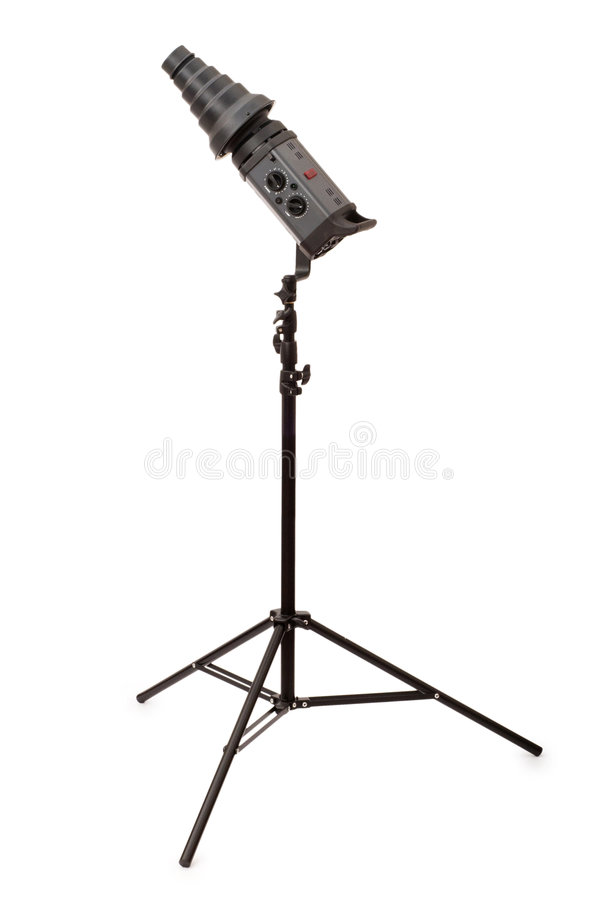 Download Studio strobe isolated stock photo. Image of flash, image - 7686620