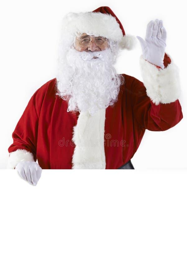 Studio strzał Santa mienia Pusty kawałek bielu Wavin I karta obraz royalty free