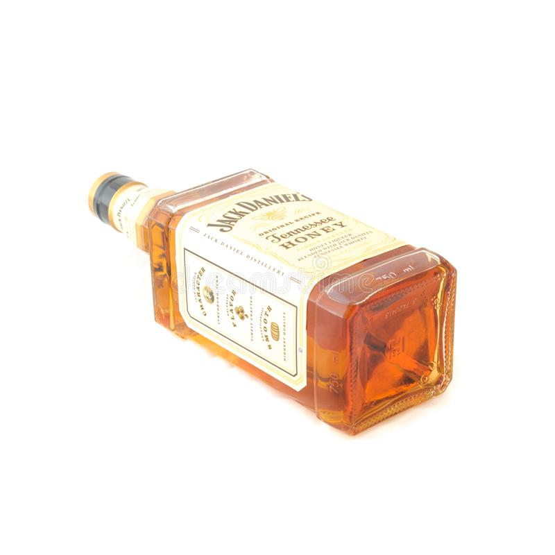 Cynamonowy Whisky Bourbon W Strzału Szkle Zdjęcie Stock