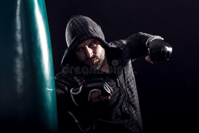 Studio strzelający męski bokser obrazy royalty free