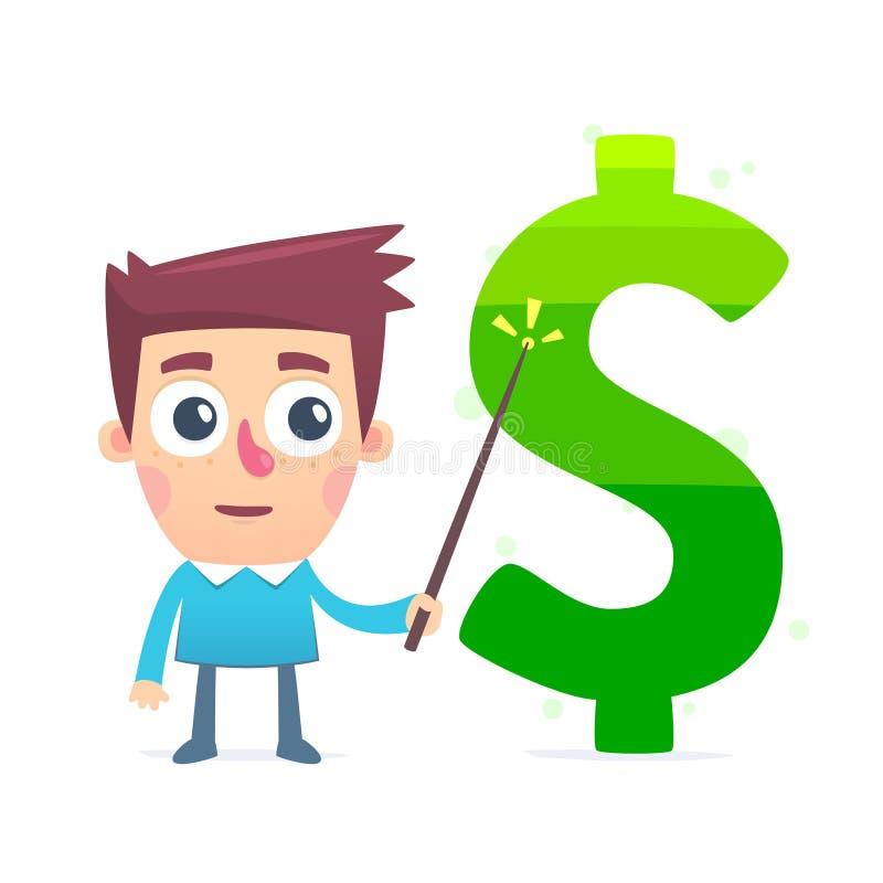 Studio sul mercato finanziario illustrazione di stock