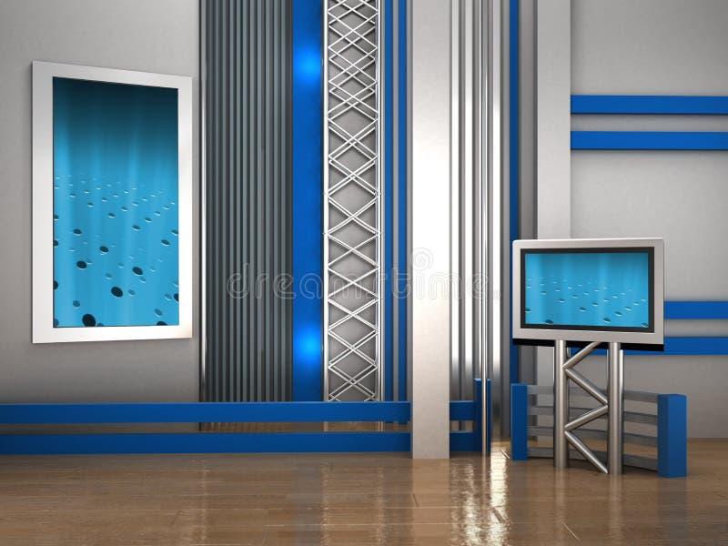 Studio TV illustrazione di stock