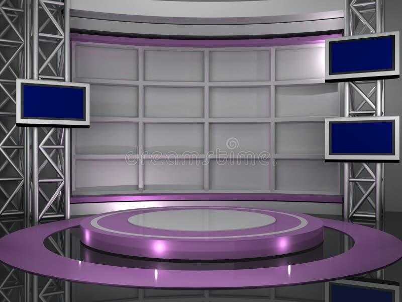 studio tv royalty ilustracja