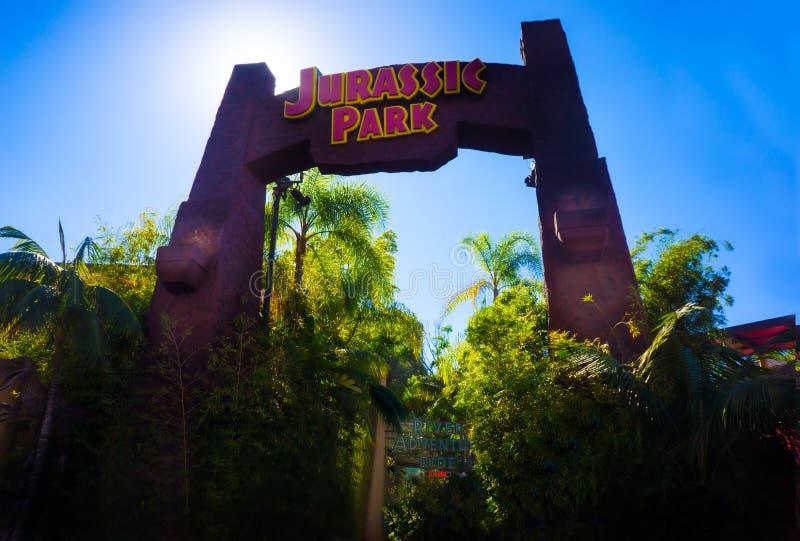Studio universale Jurassic Park fotografia stock