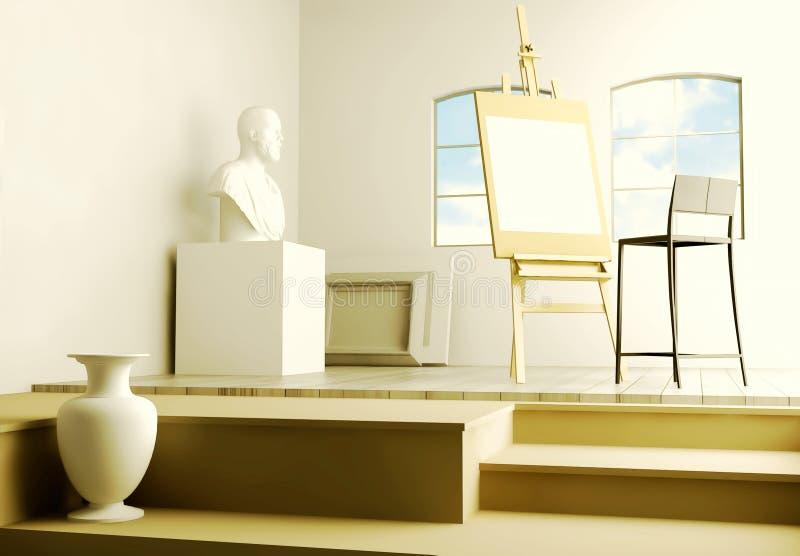 Studio van de kunstenaar vector illustratie