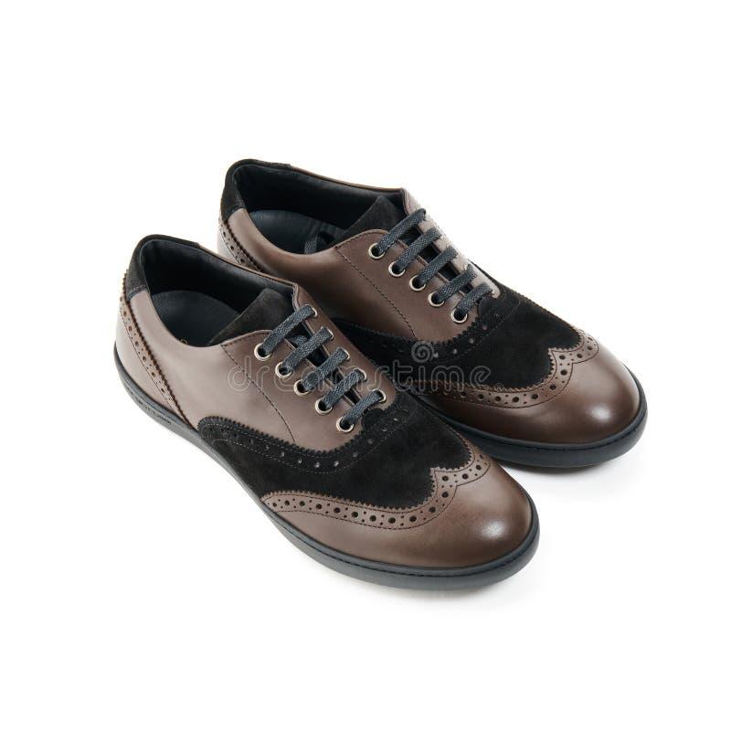 Studio van klassieke mannelijke schoenen wordt geschoten die royalty-vrije stock foto's