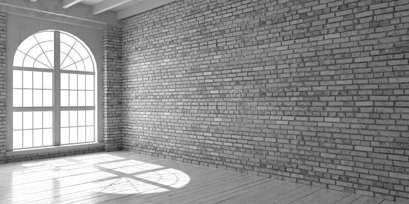 Studio vuoto bianco nello stile del sottotetto royalty illustrazione gratis