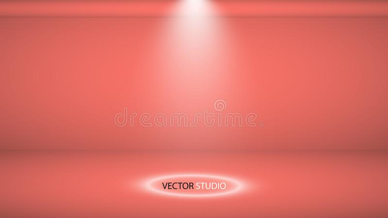 Studioachtergrond Vector lege het Leven Koraalstudio voor uw ontwerp, schijnwerper Vector grafiek vector illustratie