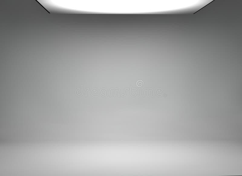 Studiobakgrund med stor softbox vektor illustrationer