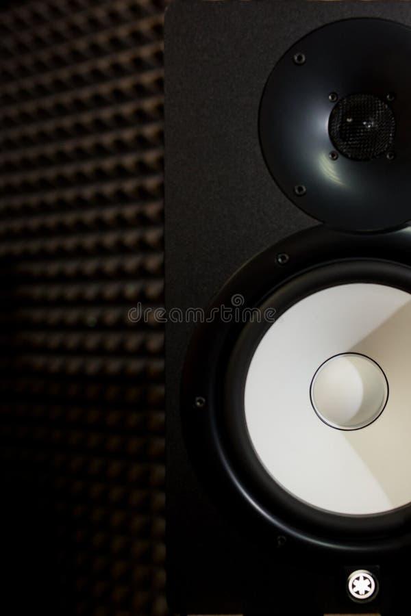 Studiobildskärm i inspelningstudio fotografering för bildbyråer