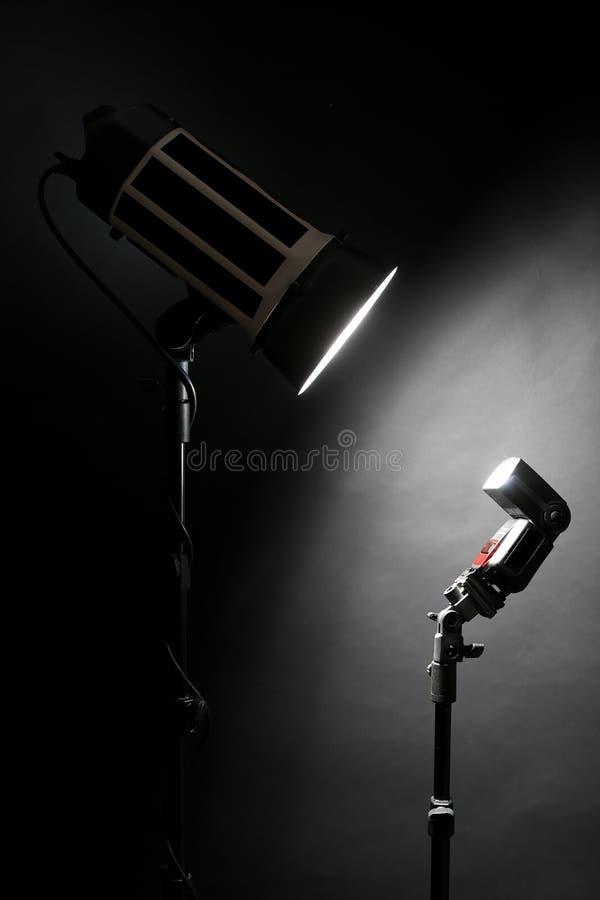 Studioexponering och en fotokamera royaltyfria foton