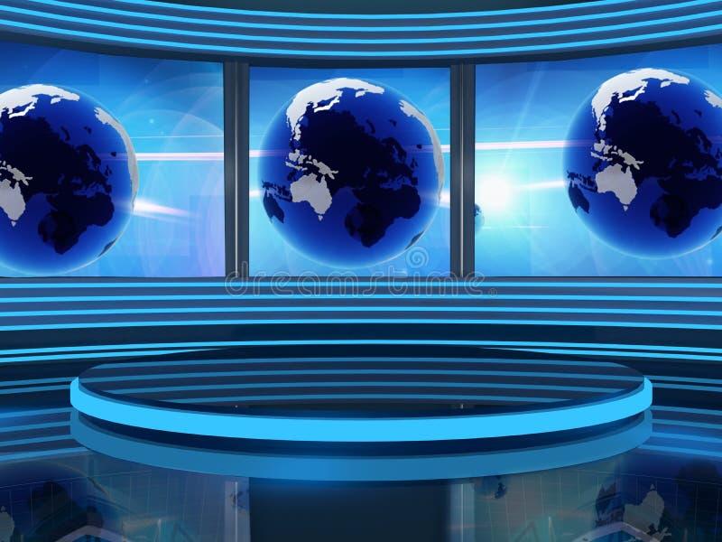 Studiofernsehapparat lizenzfreie abbildung