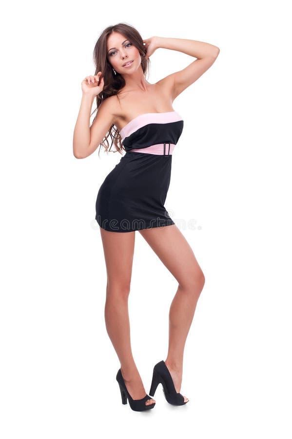 Studiofoto van een mooi meisje royalty-vrije stock foto's