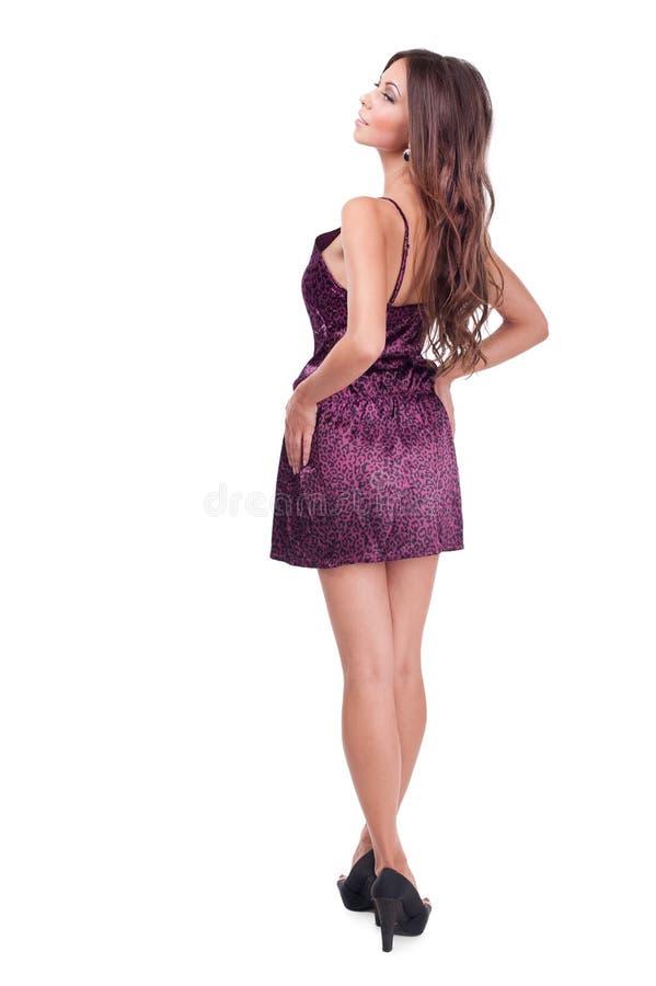 Studiofoto van een mooi meisje op een witte achtergrond royalty-vrije stock foto