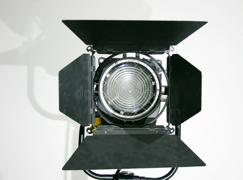 Studiofresnel-Lampe lizenzfreie stockbilder