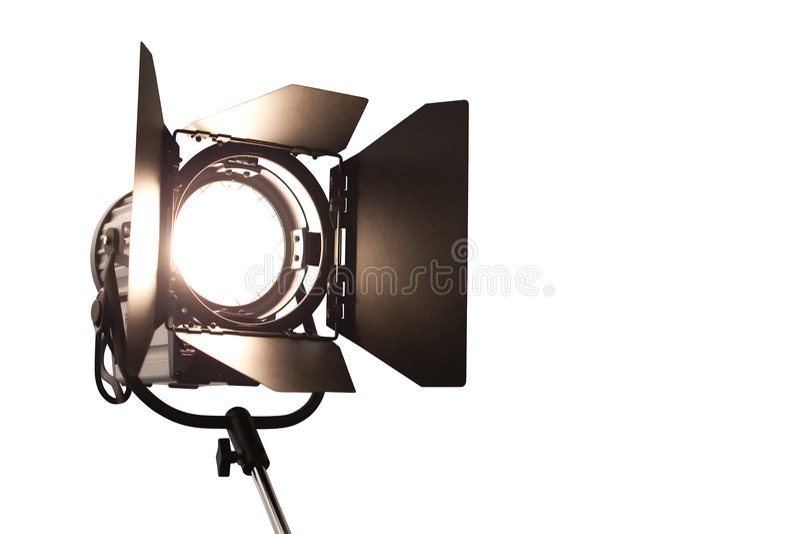 Studiolampe mit CP stockfotografie