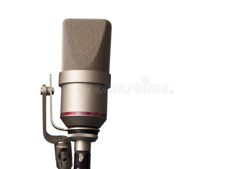Studiomicrofoon in de opnamestudio royalty-vrije stock afbeelding