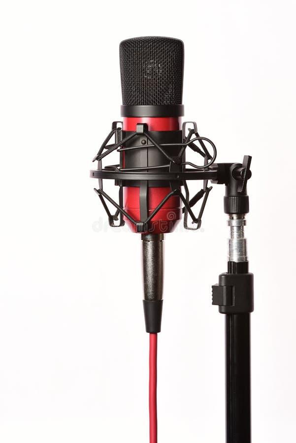 Studiomicrofoon op wit royalty-vrije stock foto