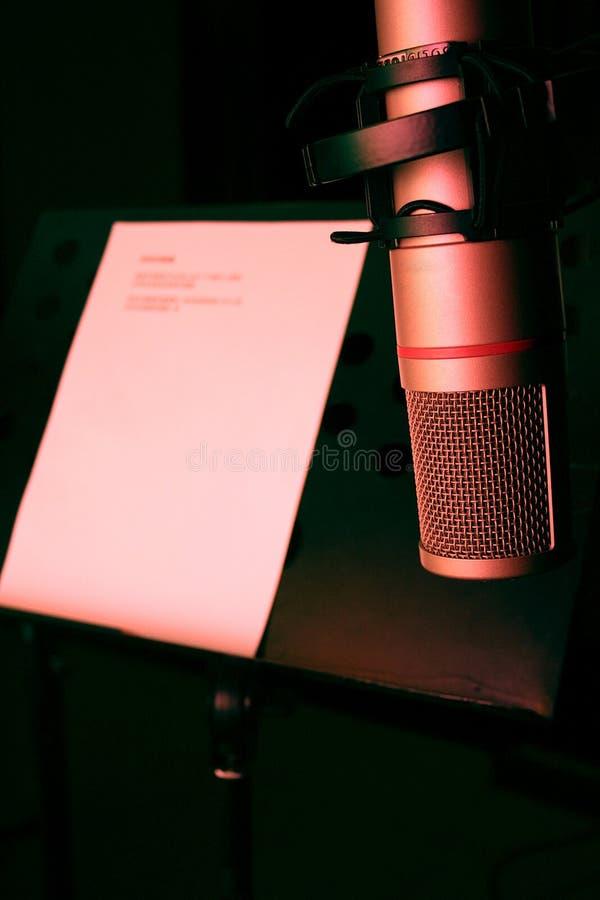 Studiomikrofon stockfoto