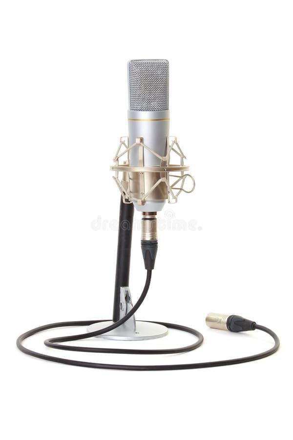 Studiomikrofon auf Standplatz stockbild