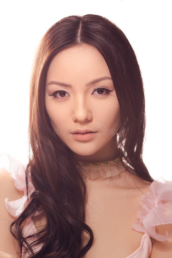 Studiomode som skjutas av asiatisk kvinna arkivfoton