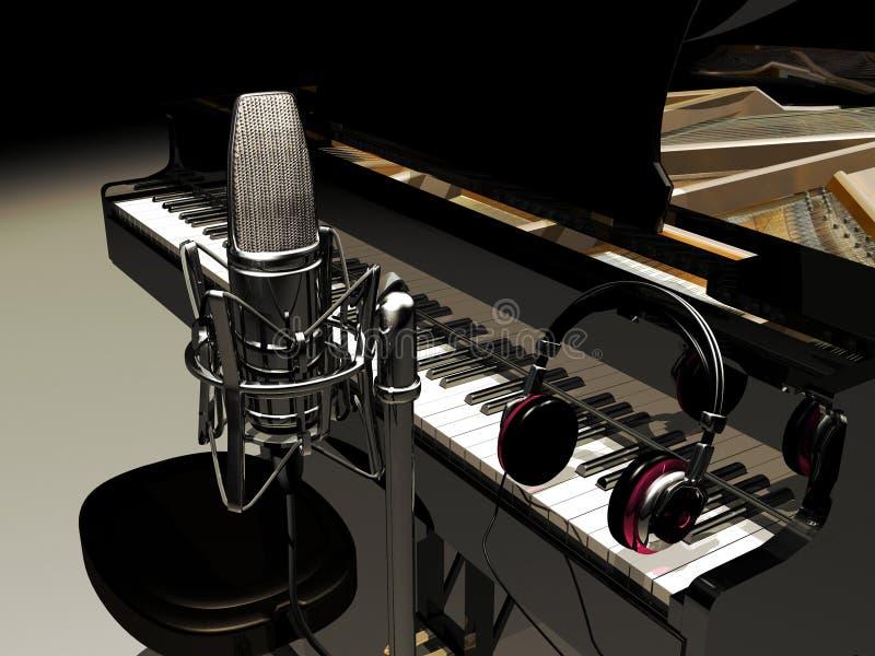 Studiomusik vektor abbildung