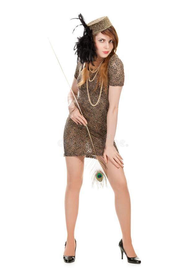 Studioportrait der attraktiven jungen Frau stockfotos