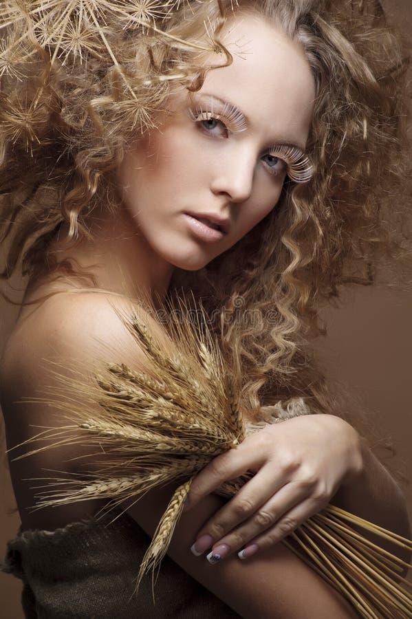 Studioportret van een leuk meisje stock fotografie