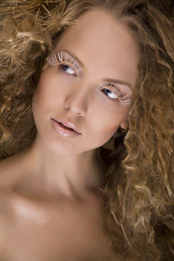 Studioportret van een leuk meisje stock afbeelding
