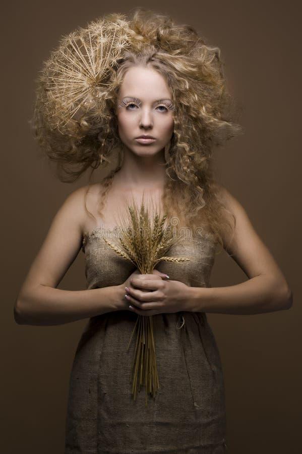 Studioportret van een leuk meisje royalty-vrije stock foto's